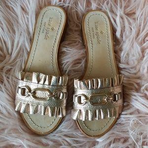 Kate Spade sz6 Metallic rose gold sandal